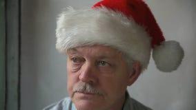 Bah humbug Santa stock footage