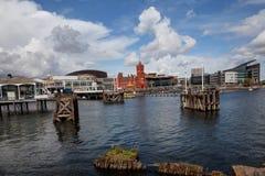 Bahía de Cardiff Foto de archivo libre de regalías