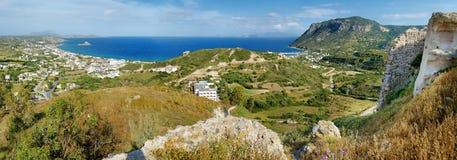 Bahía de Kefalos en una isla griega de Kos Imágenes de archivo libres de regalías