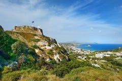 Bahía de Kefalos en una isla griega de Kos Imagen de archivo