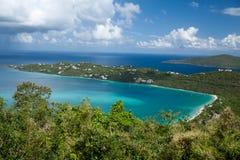 Bahía de Magens (St.Thomas, los E.E.U.U. Islas Vírgenes). Fotos de archivo libres de regalías