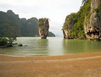 Bahía de Phang Nga, en Tailandia Foto de archivo libre de regalías