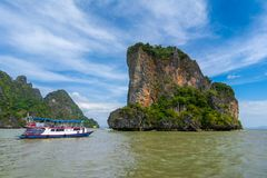 Bahía de Phang Nga, Tailandia Imagenes de archivo