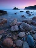 Bahía de Portelet - Jersey C.I Imagen de archivo libre de regalías