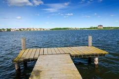 Bahía del mar del verano en Karlskrona Imagen de archivo