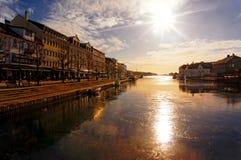 Bahía del polen, Noruega Imágenes de archivo libres de regalías