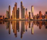 Bahía del puerto deportivo de Dubai, UAE Imágenes de archivo libres de regalías