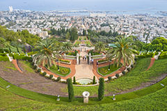 Baha'i Gardens Stock Photo