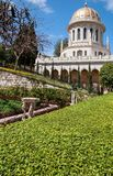 Baha'i Gardens and temple dome Royalty Free Stock Image