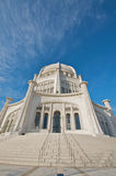 The Baha'i House of Worship in Chicago. The Baha'i House of Worship in Wilmette, Chicago. Dynamic wide angle shot. Winter 2009 royalty free stock photography