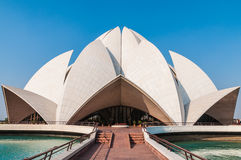 The Baha'i Lotus Temple in Delhi Stock Photography