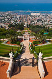 Baha'i Shrine and Gardens in Haifa, Isreal Stock Images