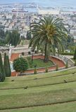 Baha`i shrine and temple in Hafia as seen through hilltop entrance Royalty Free Stock Image