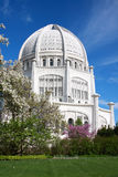 Baha'i Temple in Chicago Suburbs. Baha'i House of Worship in Wilmette, Chicago suburb Royalty Free Stock Image