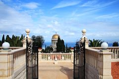 Baha'i temple. In Haifa, Israel Royalty Free Stock Image