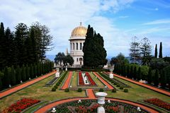 Baha'i temple. In Haifa, Israel Stock Photography