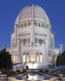 Baha`i Temple and Reflecting Pool Stock Photo