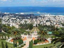 BAHA'I-TRÄDGÅRDAR, HAIFA, ISRAEL fotografering för bildbyråer