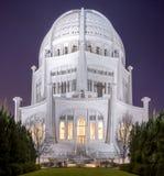 Baha ` ja świątynia, Chicago Obraz Royalty Free