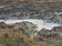 Bahadur khel zoute stortingen van Pakistan stock foto