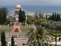 Bahai寺庙和庭院 库存照片