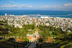 Bahai庭院。 海法,以色列 免版税库存照片
