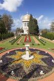 Bahai庭院和寺庙在Carmel山的倾斜,海法 免版税库存图片