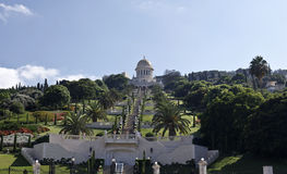 Bahai庭院和寺庙 免版税库存照片