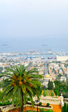 Bahai庭院和德国殖民地,海法 免版税库存图片