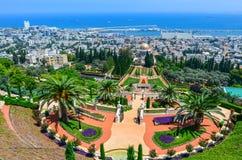 Bahai庭院在海法以色列。 免版税库存图片