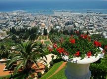 Bahai庭院在海法 免版税库存图片