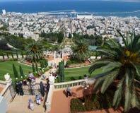 Bahai庭院在海法 免版税库存照片