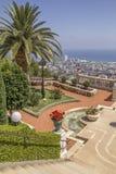 Bahai庭院胡同,海法北部以色列 库存图片