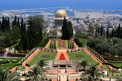 Bahai庭院,以色列 免版税图库摄影