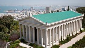 Bahai庭院,海法,以色列。 免版税库存照片