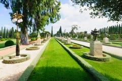 Bahai庭院,英亩 免版税库存图片