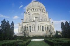 Bahai教堂东部宗教在Wilmette伊利诺伊 免版税库存照片