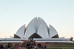 Bahai莲花寺庙-新德里,印度 库存图片