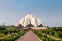 Bahai莲花寺庙-新德里,印度 图库摄影
