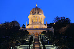 Bahai świątynia, Haifa zdjęcia royalty free