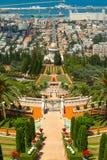 Bahai świątynia i ogródy Zdjęcia Royalty Free