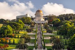 bahai садовничает haifa Израиль стоковые фотографии rf