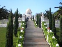 Bahai Gärten lizenzfreie stockbilder