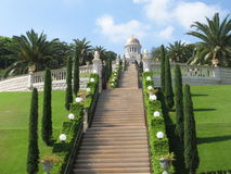 Bahai-Gärten in Haifa Stockbild