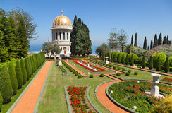 Bahai-Gärten in Haifa, Israel stockfotos