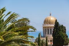 Bahai Garden in Haifa, Israel. Stock Photos