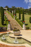 Bahai Garden in Haifa North Israel Royalty Free Stock Photography