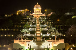 Bahai Garden in the night Stock Images