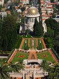 Bahai garden and temple Royalty Free Stock Photo