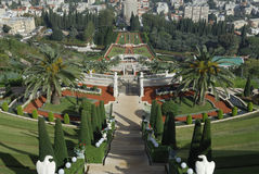 The Bahai Gardens. Royalty Free Stock Image